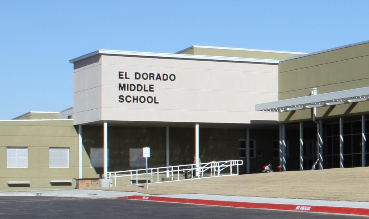 Entryway of El Dorado Middle School