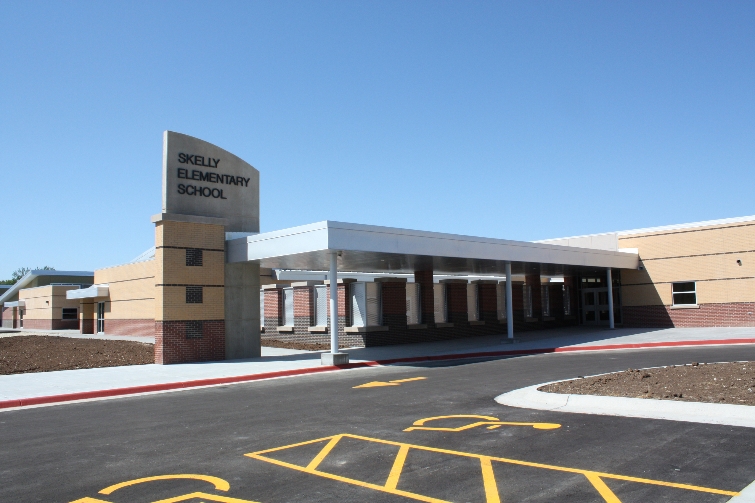 Front entrance of Skelly Elementary