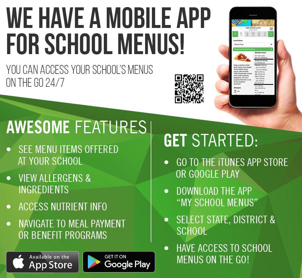 Food service app information