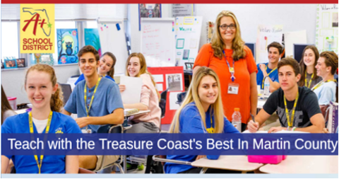 Teach with the Treasure Coast's Best in Martin County