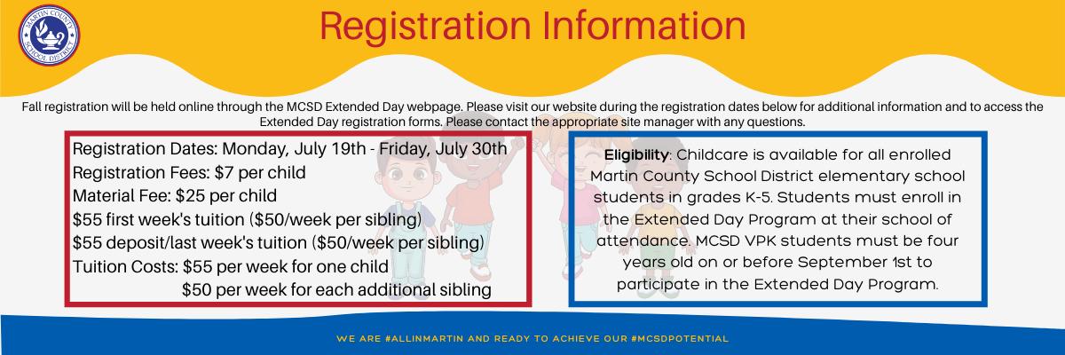 Extended Day registration flyer