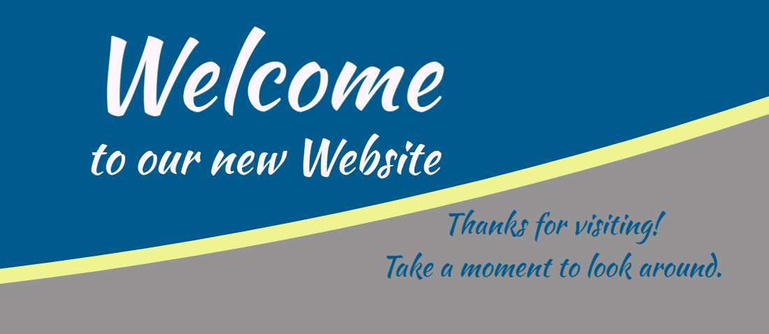 welcome to our new website