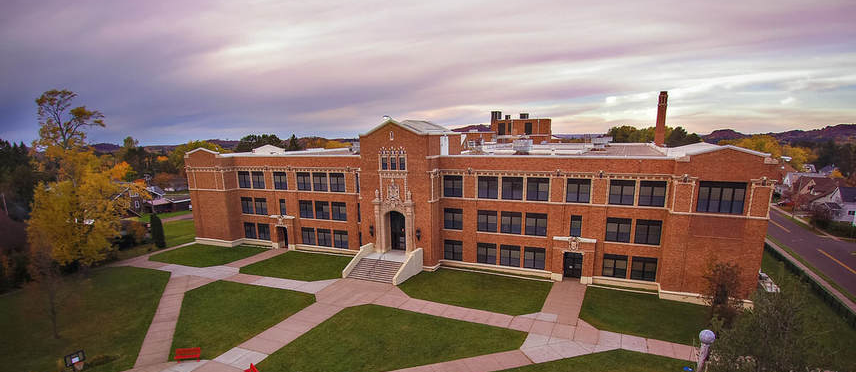 Luther L Wright K-12 School aerial view