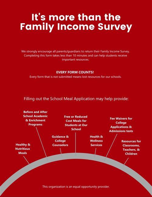 Family Income Survey Flyer english