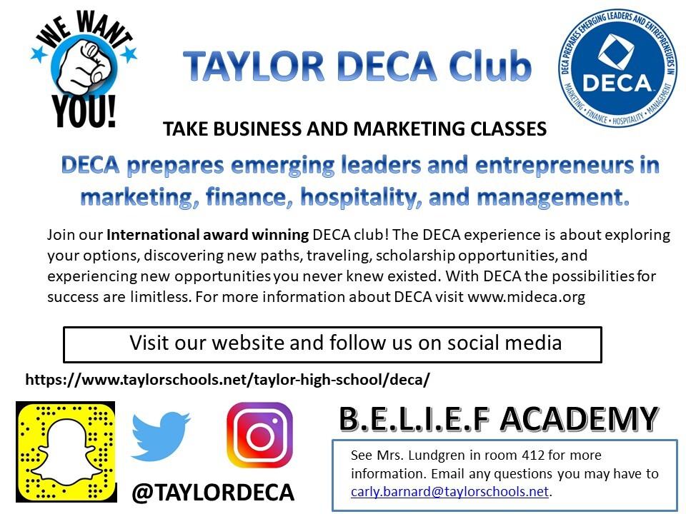 Taylor DECA Club