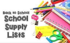 Back to School, School Supply Lists