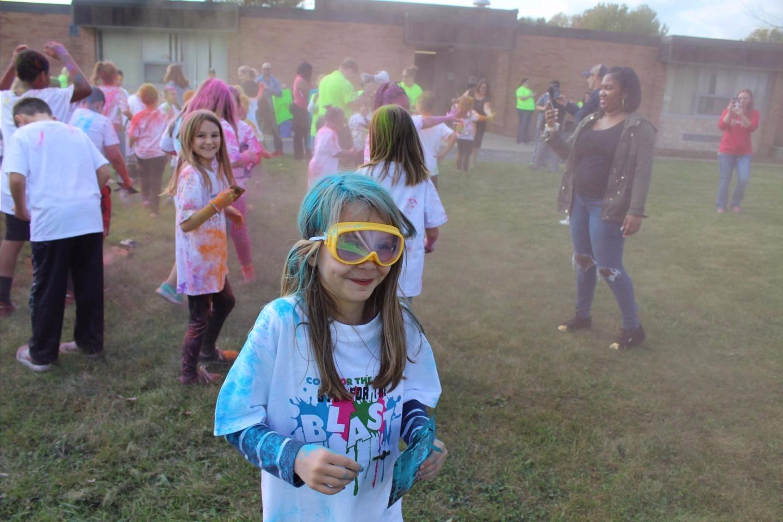 Color Run Fun Photos and Celebration in the school