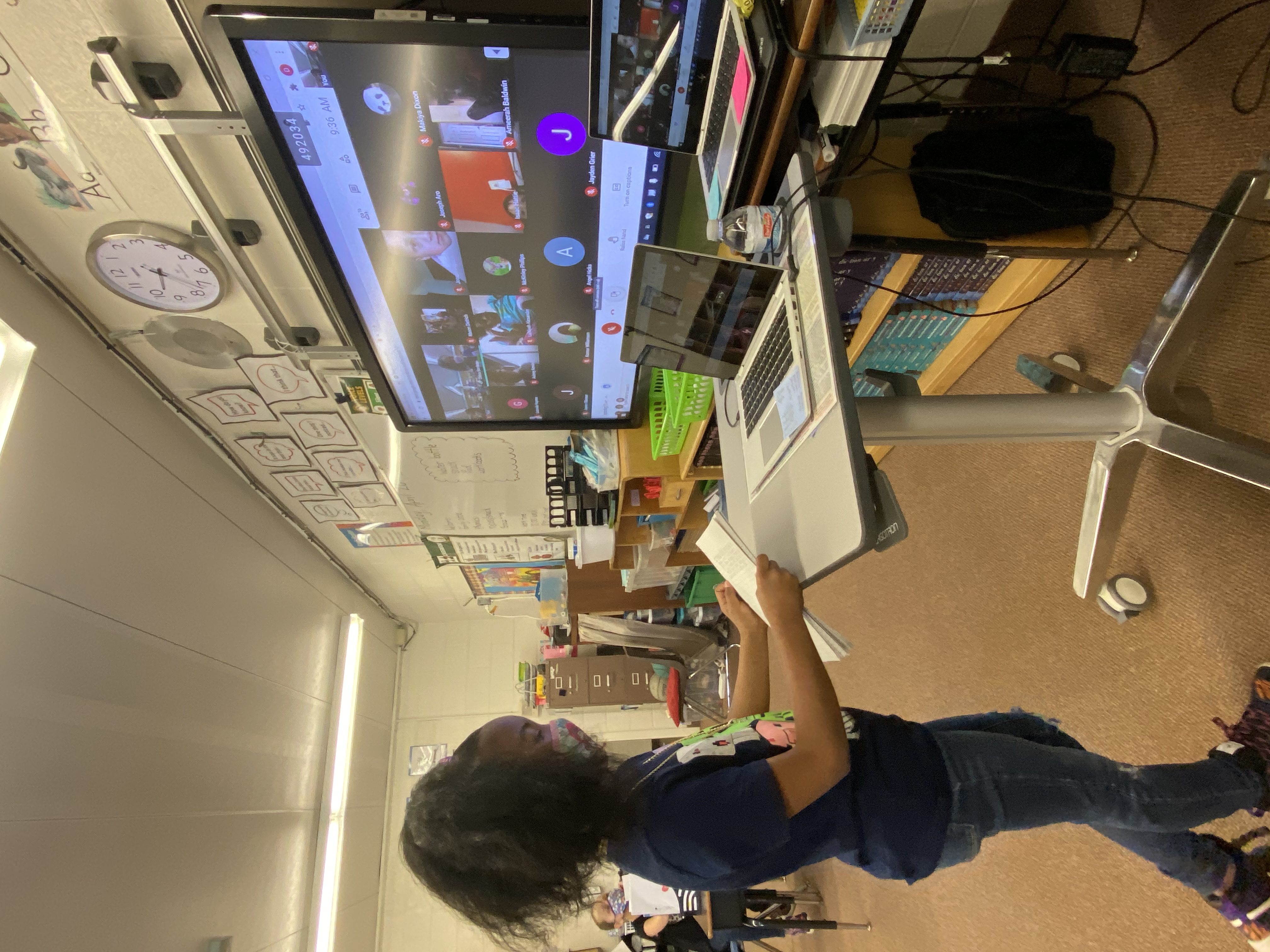 Holland Student using technology to support her learning