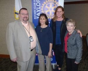 Pictured here are Edward Bourassa, Colleen Ampezzan (PAES instructor), Erin Dobbins andLinda Newsome.