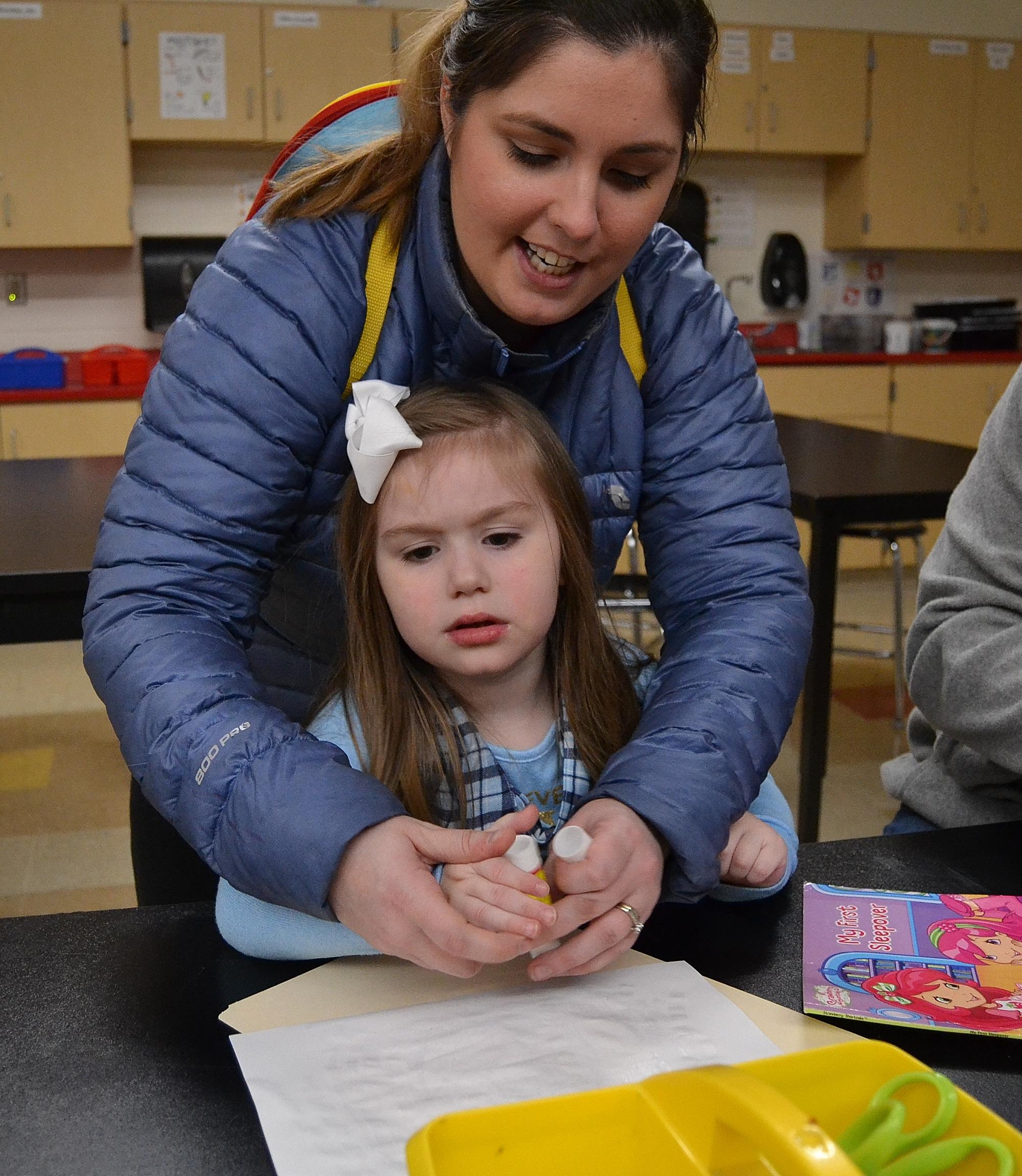 parent helping child