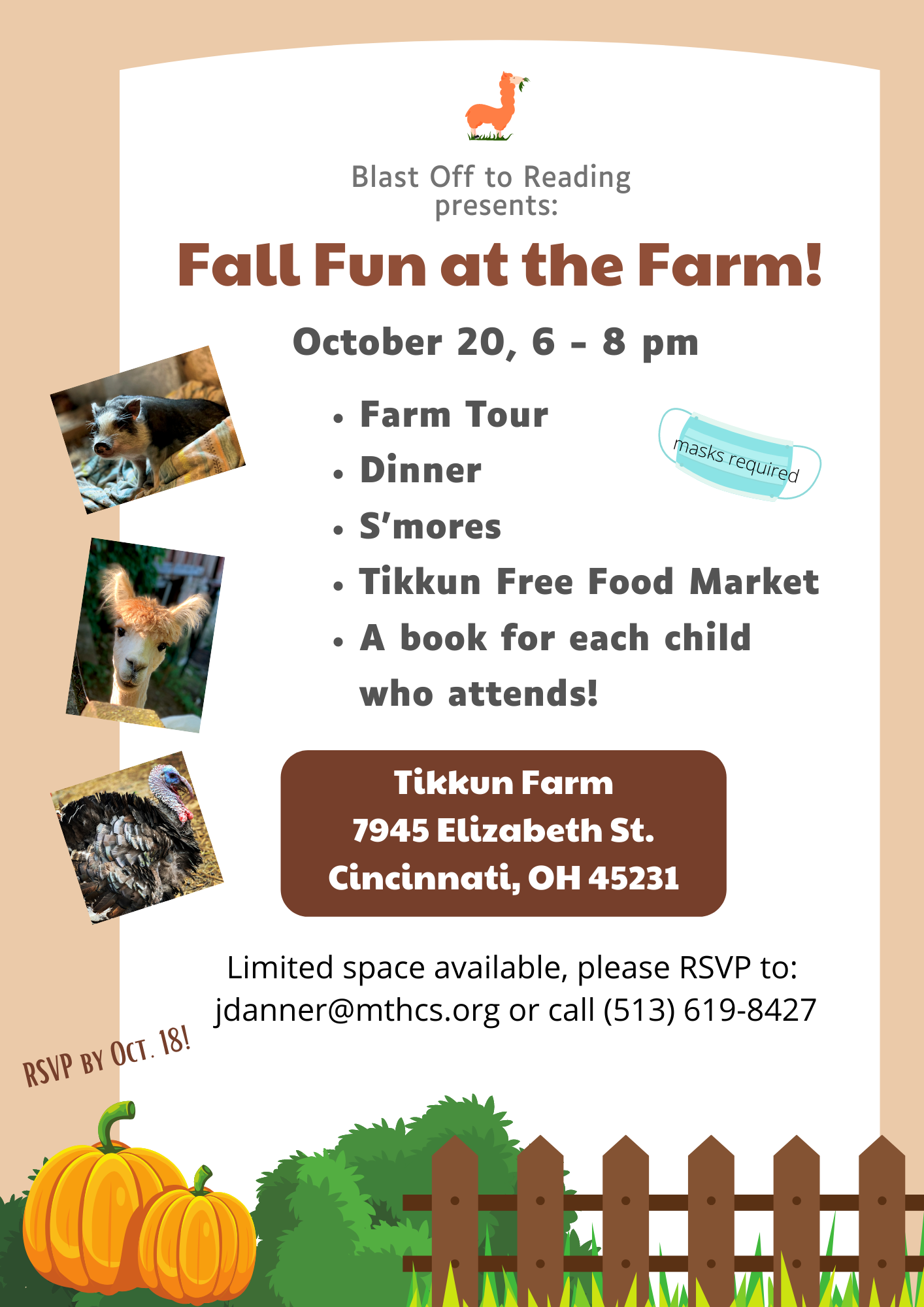 Fall Fun at the Farm event on Oct 20
