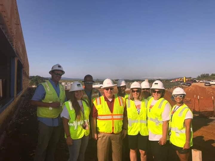 PCMS Construction Tour