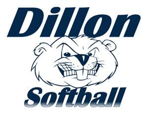An image of the Dillon Softball team logo
