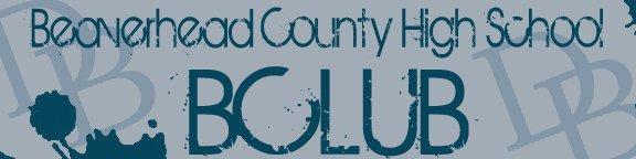 An graphic that says Beaverhead County High School BClub