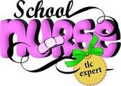 A graphic that says School Nurse