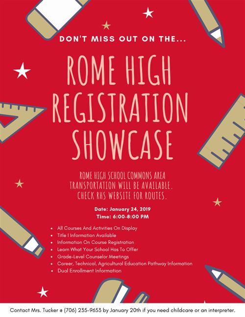 Registration Showcase Information