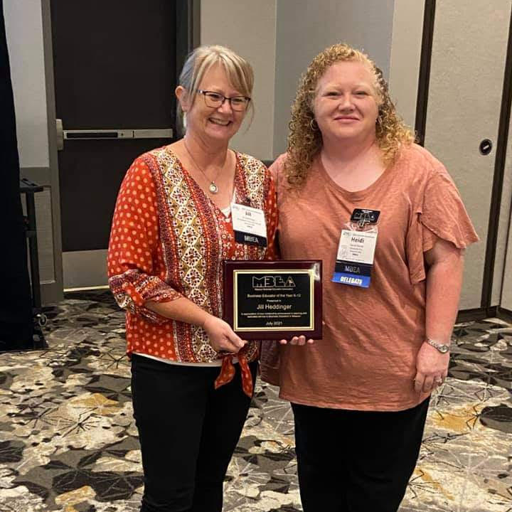 2021 MO Business Education Association Teacher of the Year - Jill Heddinger teaches upper level business and dual credit courses at Northwest Technical School.