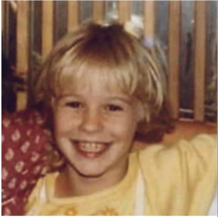 Ms Dixon  as a child