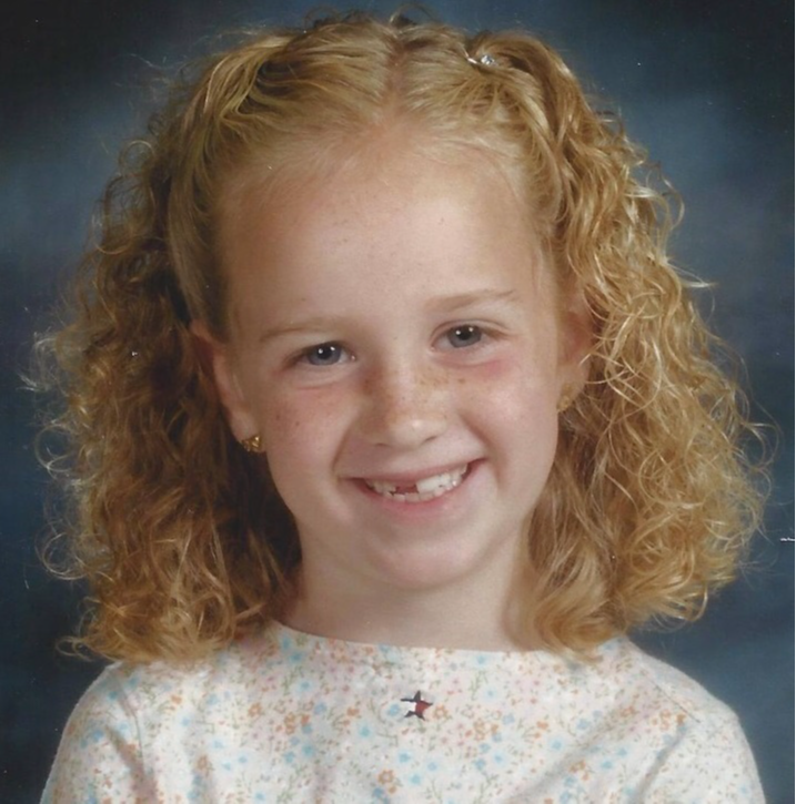 Miss Lacey  as a child