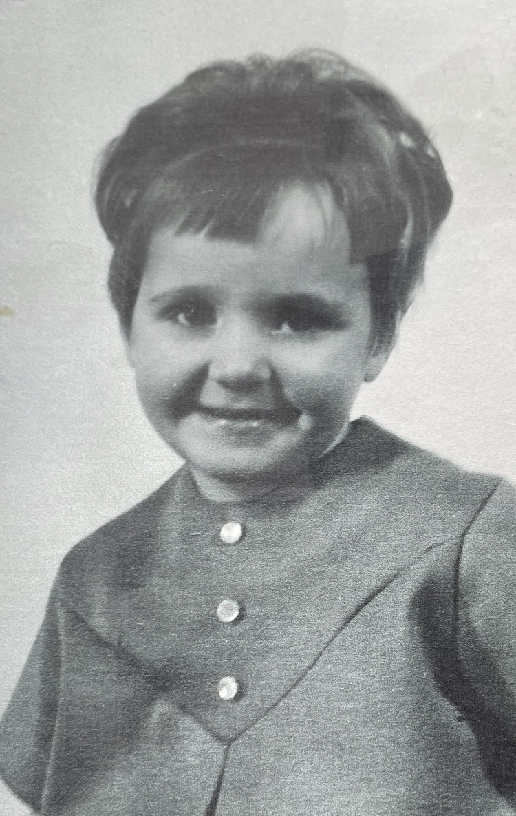 Mrs. Yeates as a child