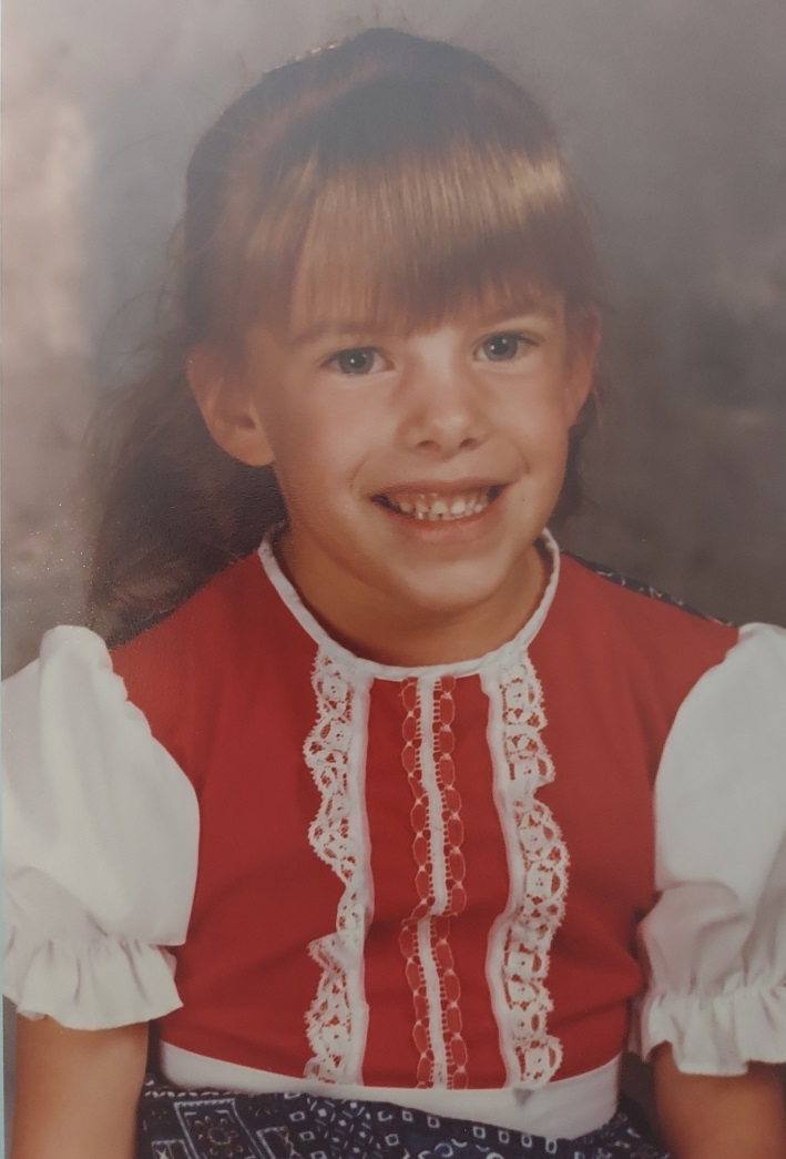Mrs. Anderson as a child