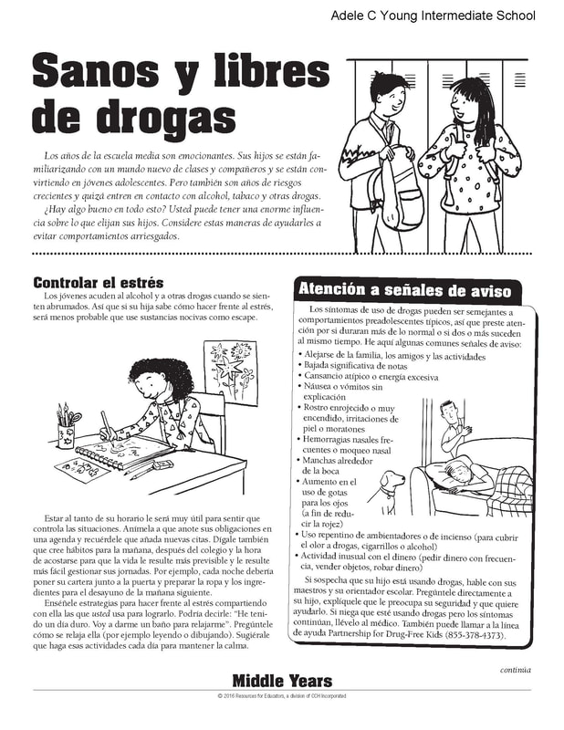Healthy and Drug Free Spanish