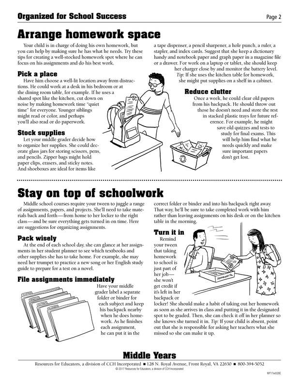 Organized for School Success