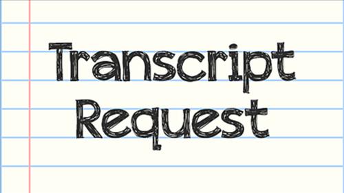 Transcript request clip art