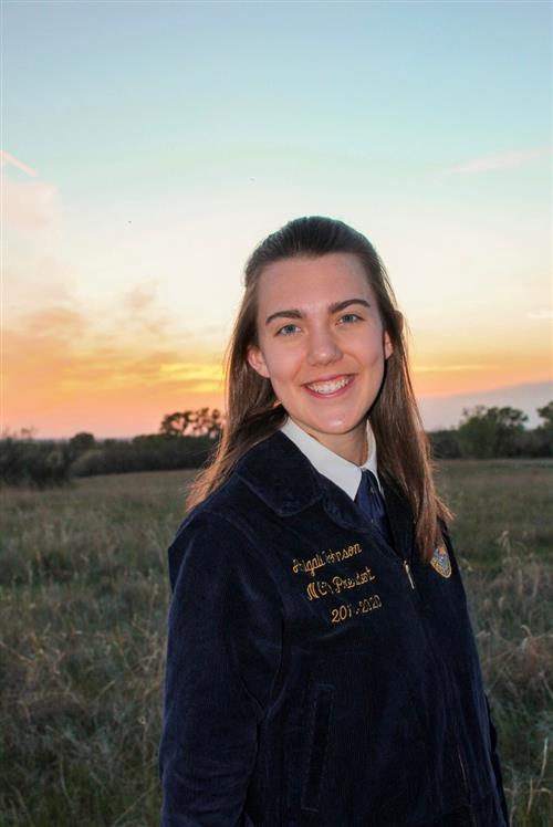 Abby Johnson, 2020-2021 Kansas FFA State Vice President