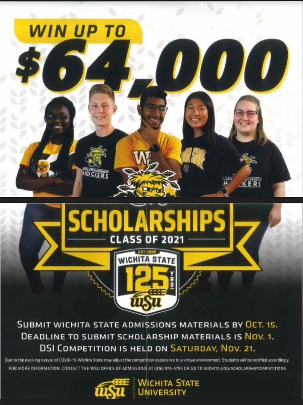 wichita state 125 scholarship logo