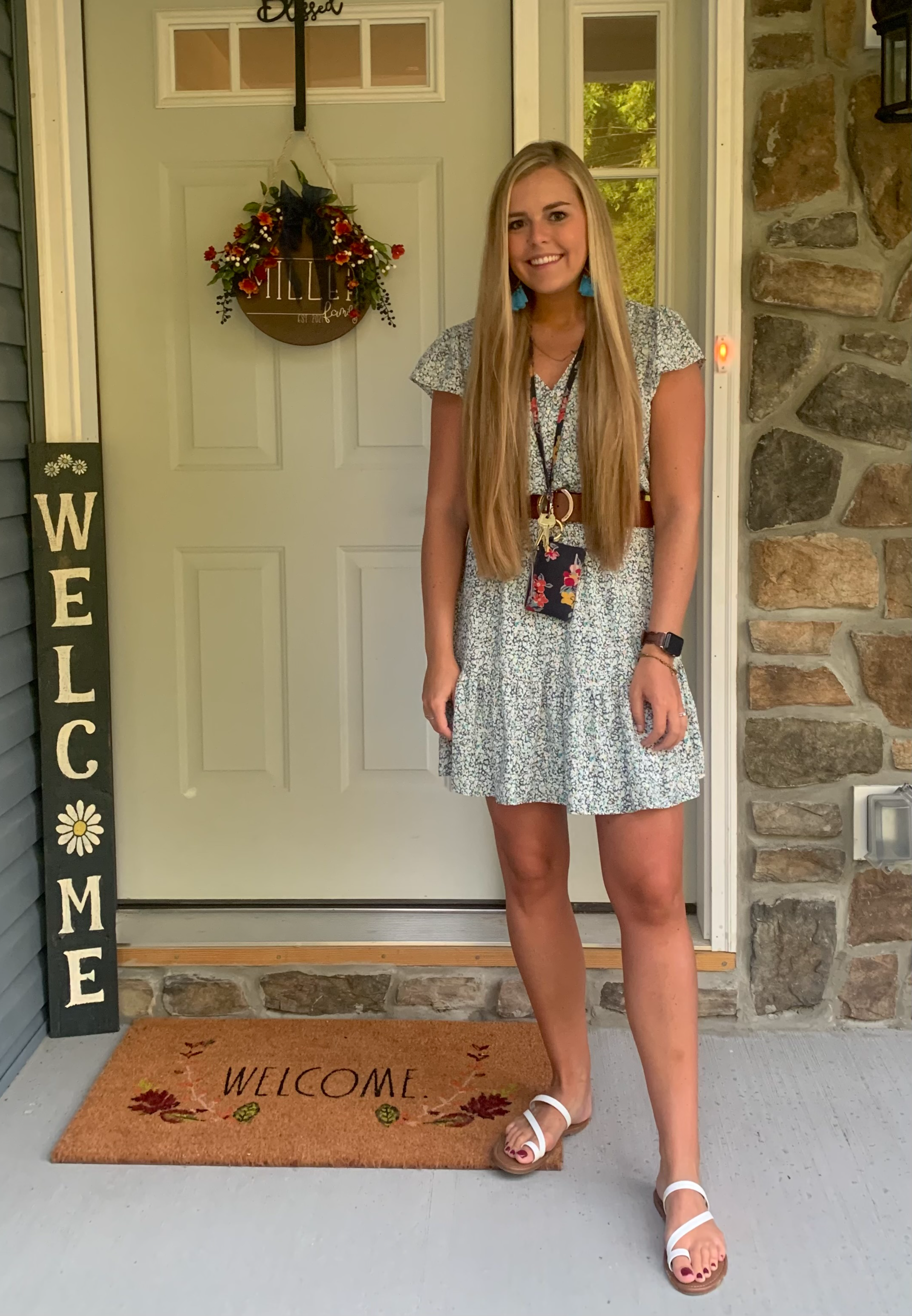 Mrs. Miller First Day of School Picture