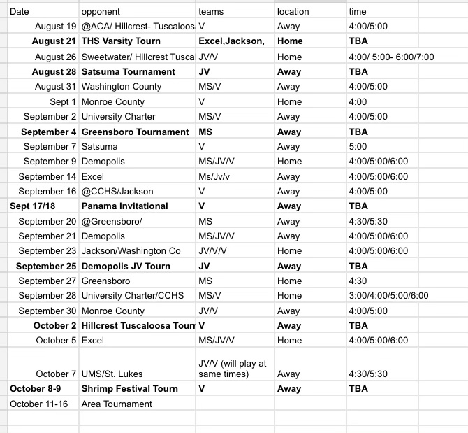 THS-TMS volleyball schedule 2021