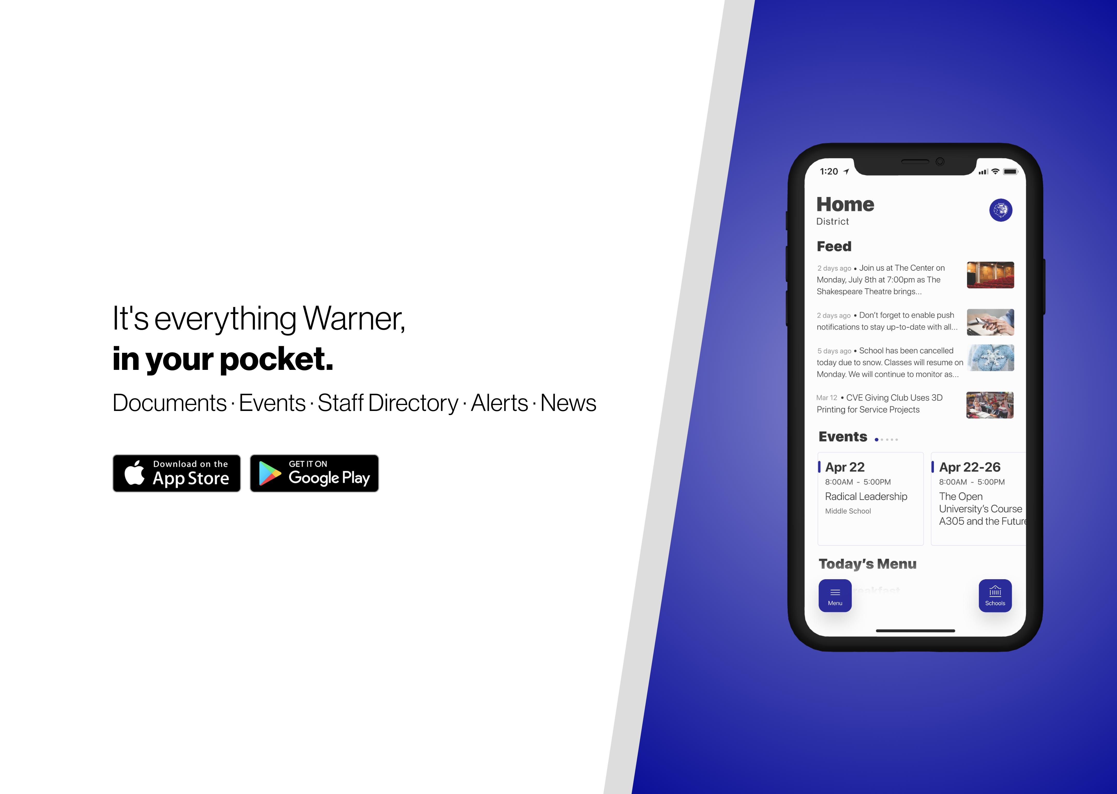 Download the new Warner School Mobile App
