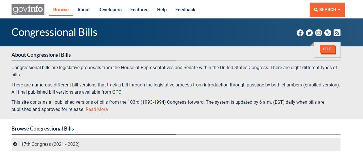 Congressional court records