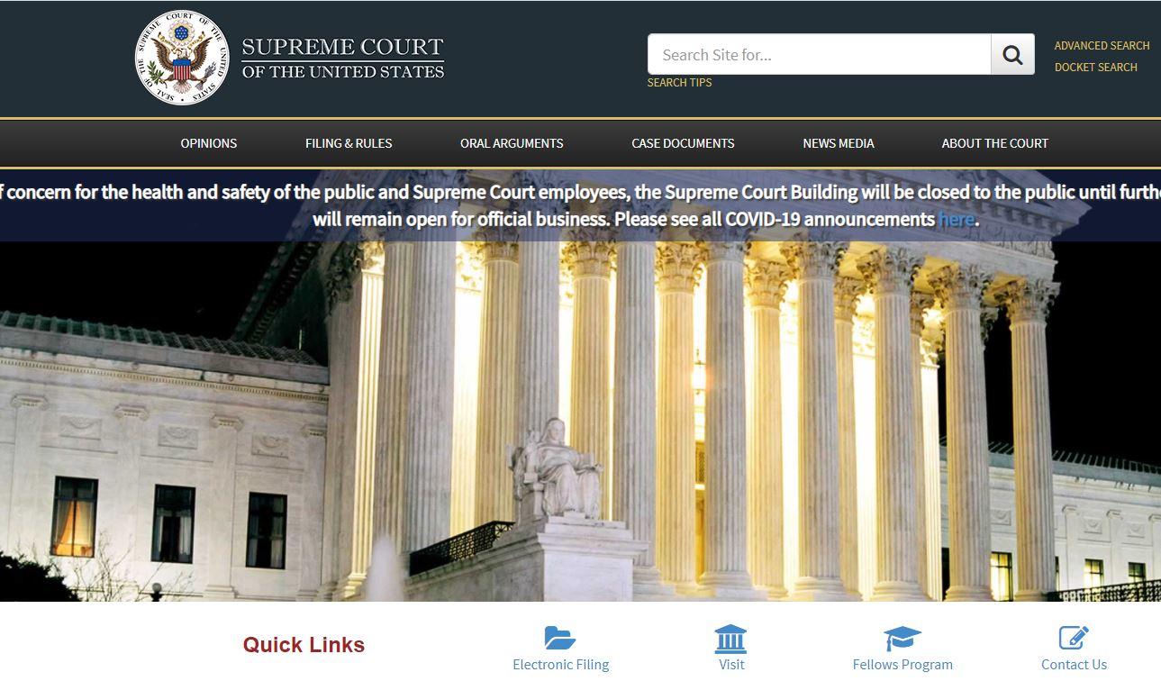 Supreme Court wepage