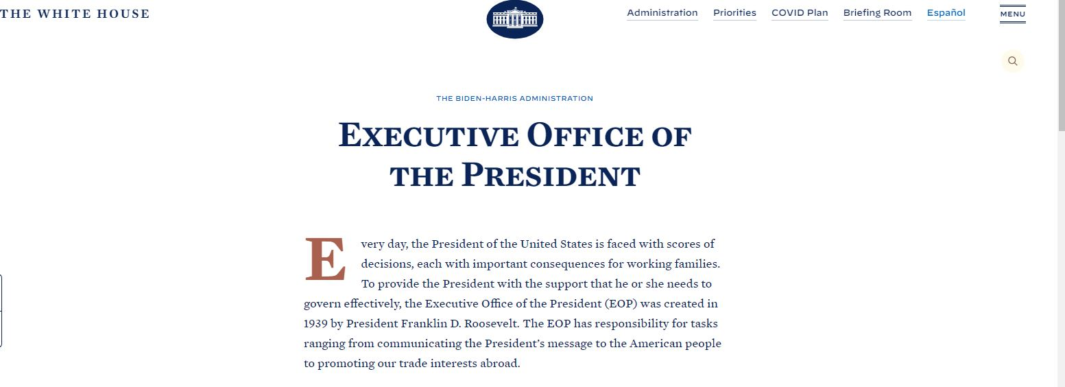 Office of the President of the United States