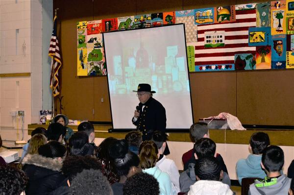 Civil War Reenactors Visit photo