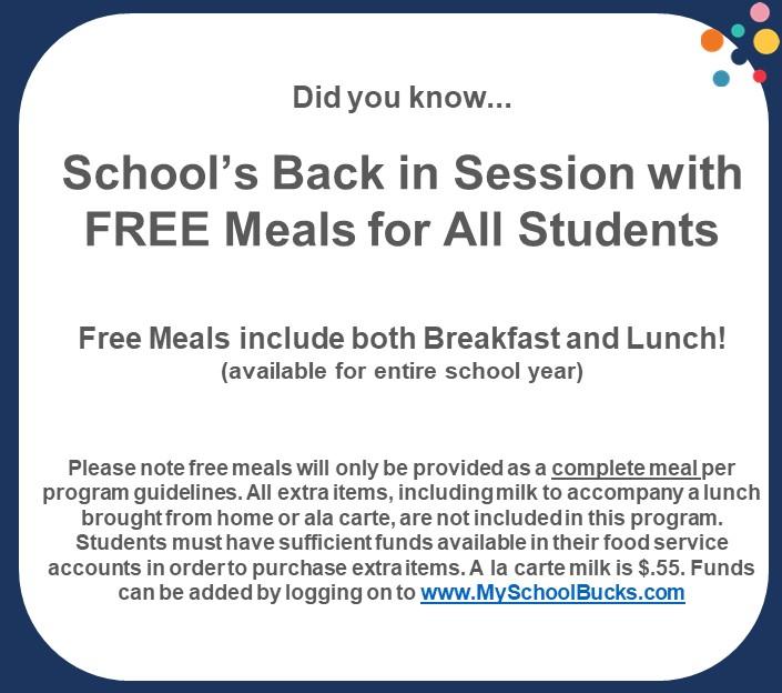 FY22 school meal information