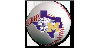 Baseball with the School logo