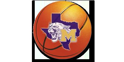 Basketball with school logo