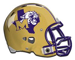 Football helmet with School Logo