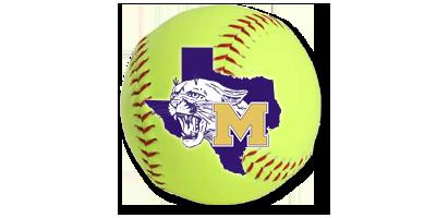 Softball with School logo