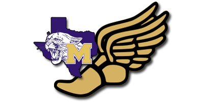 Track and Field logo with School  logo