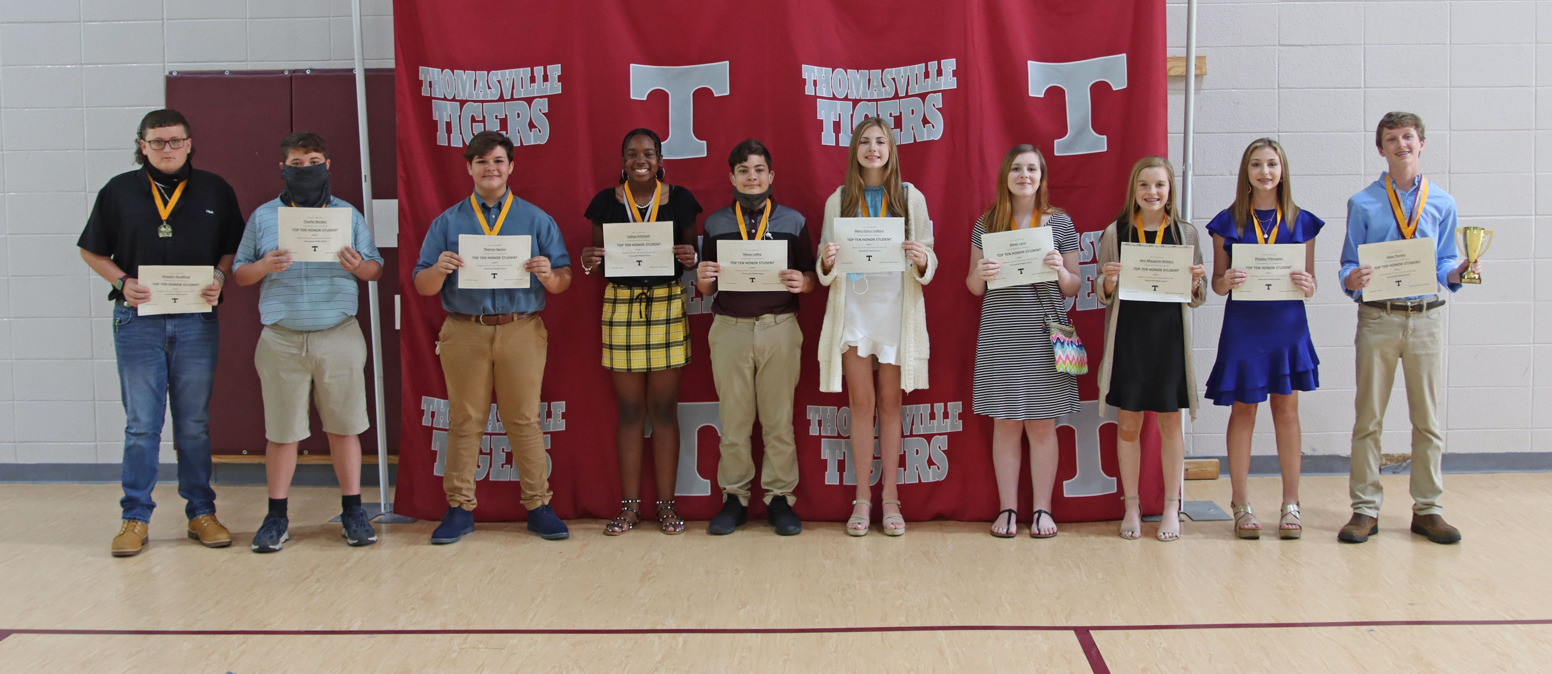 TMS Seventh grade Top Ten 2021