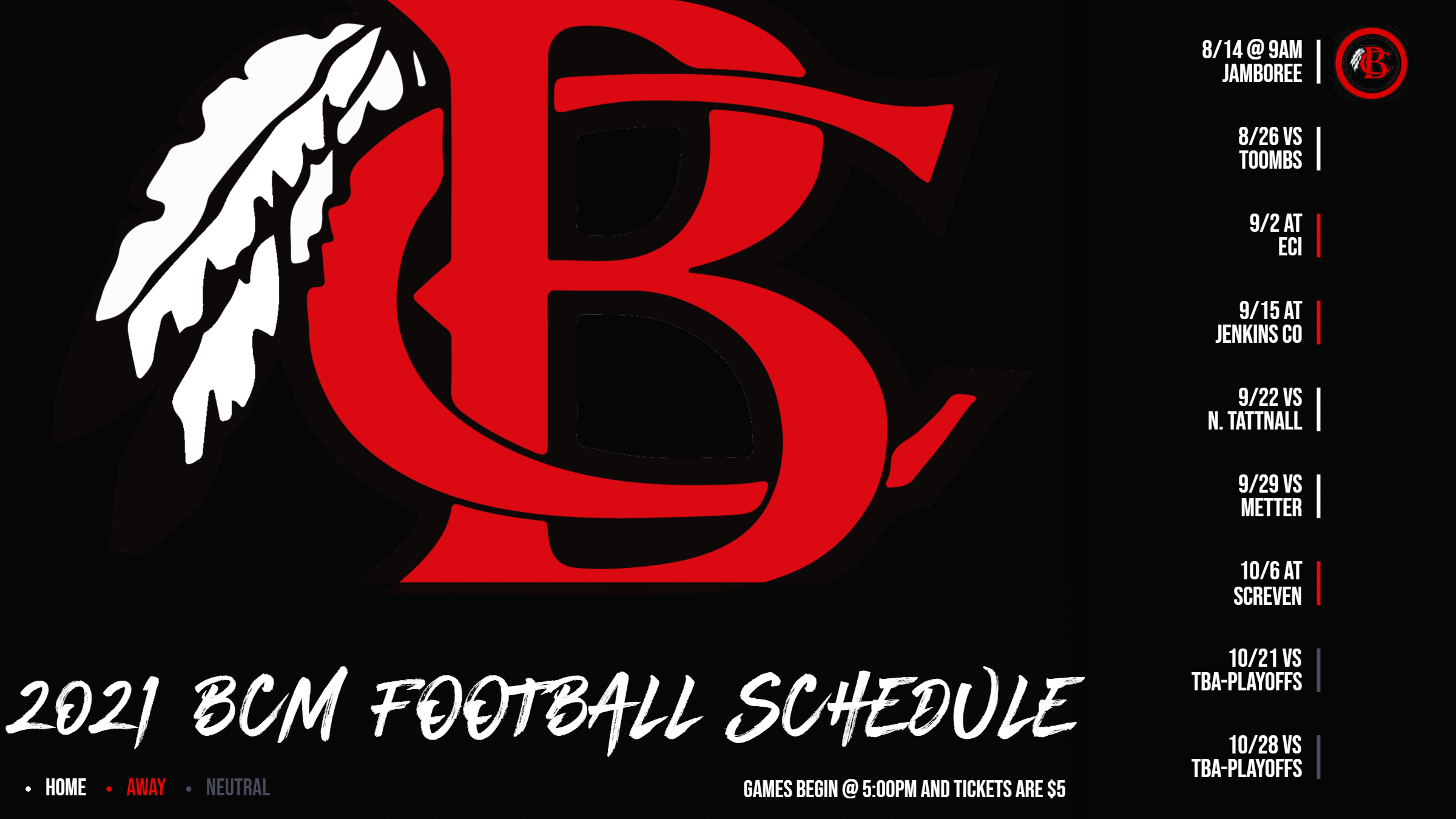 Lower School Football Schedule 2021