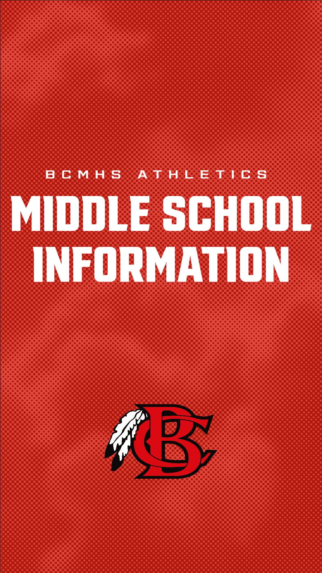 Middle School Athletic Information Side Banner