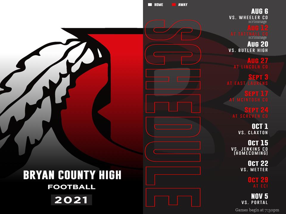 High School Varsity Football Schedule 2021