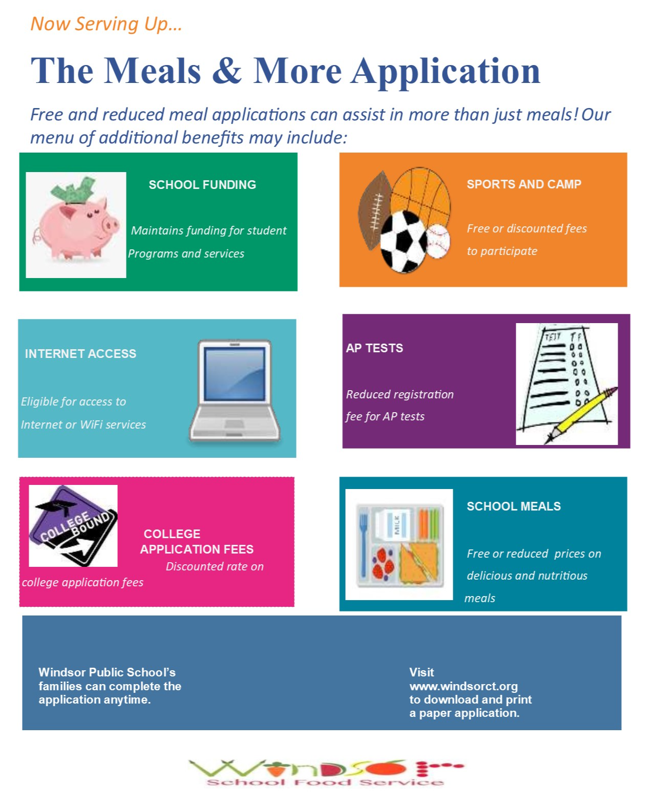 Meals and More Application Flyer