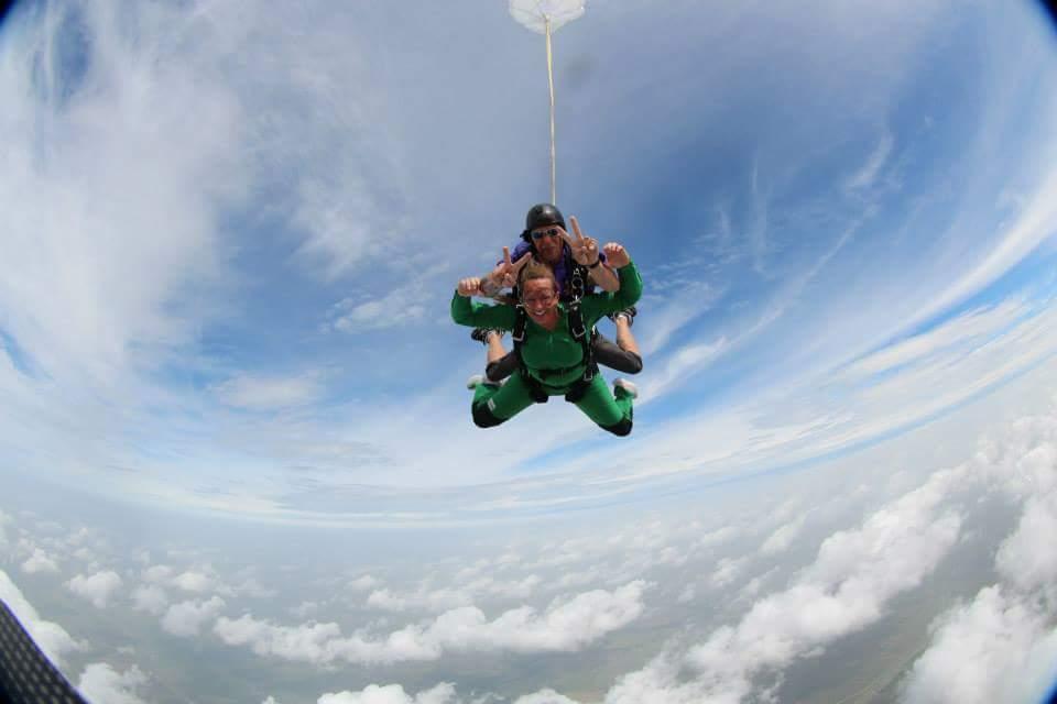 Melissa sky diving