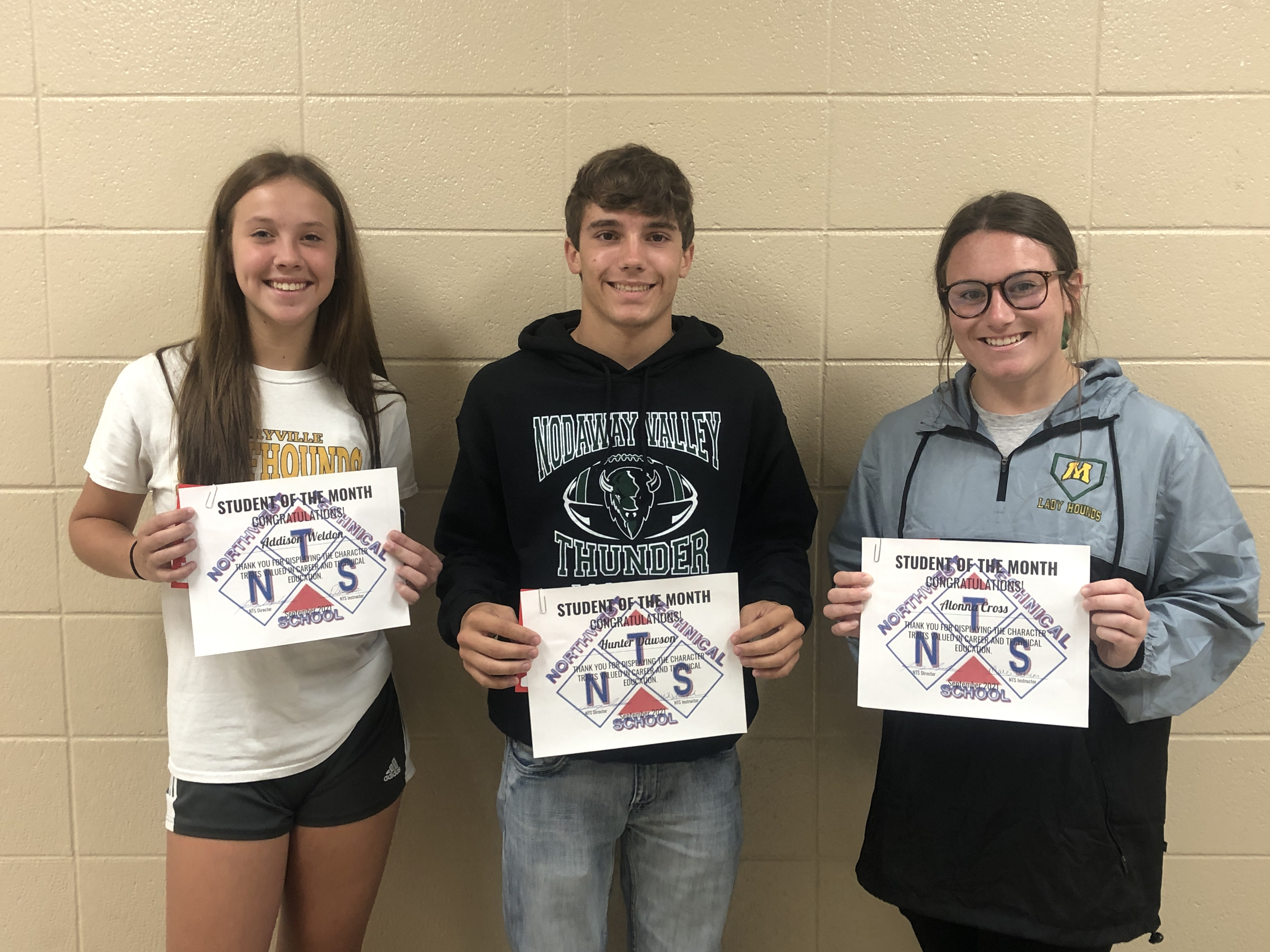 NTS September Students of the Month - Integrity